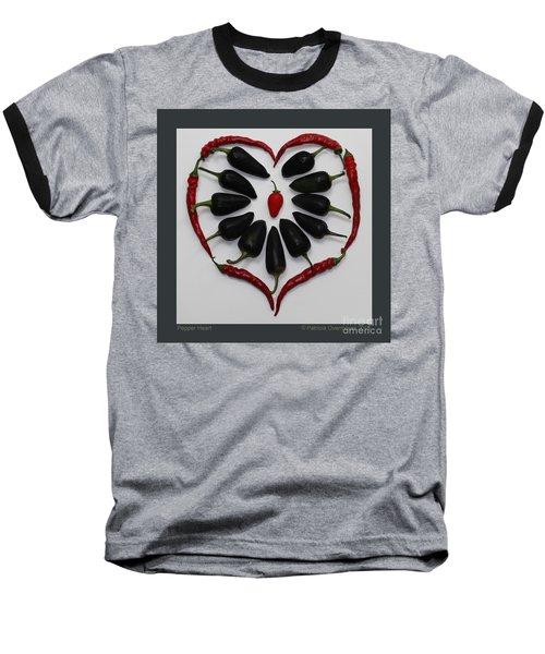 Pepper Heart Baseball T-Shirt