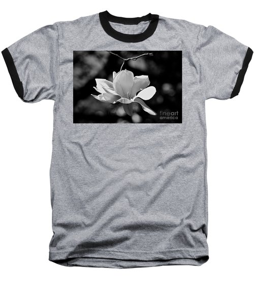 Perfect Bloom Magnolia In White Baseball T-Shirt
