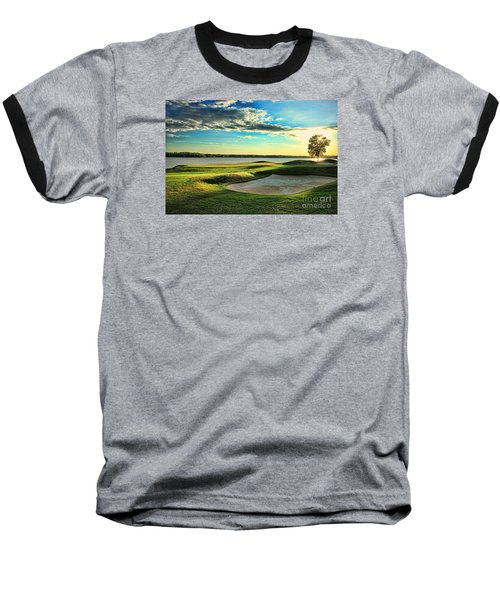 Perfect Golf Sunset Baseball T-Shirt