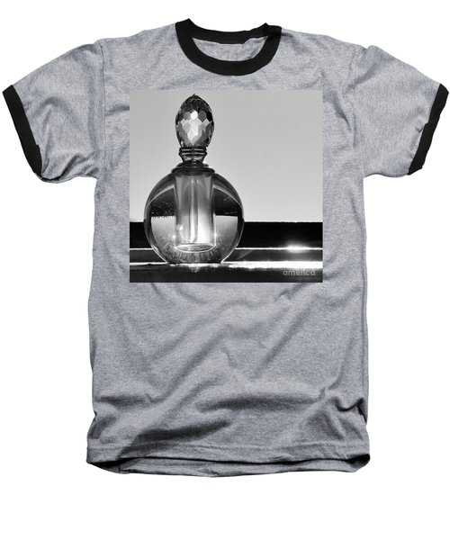Baseball T-Shirt featuring the photograph Perfume Bottle Inversion by Lilliana Mendez