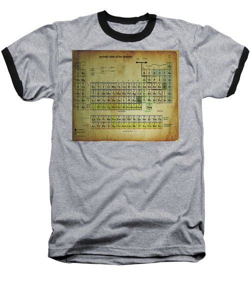 Baseball T-Shirt featuring the mixed media Periodic Table Of Elements by Brian Reaves