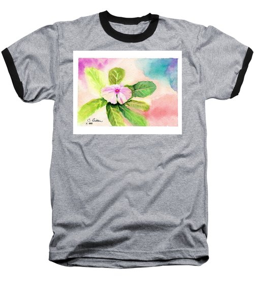 Baseball T-Shirt featuring the painting Periwinkle by C Sitton