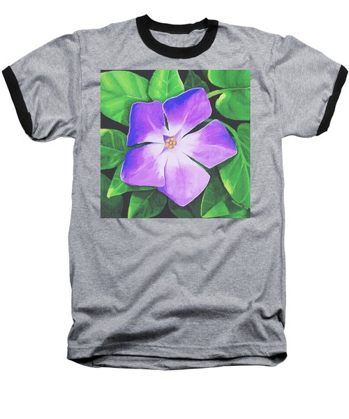 Baseball T-Shirt featuring the painting Periwinkle by Sophia Schmierer