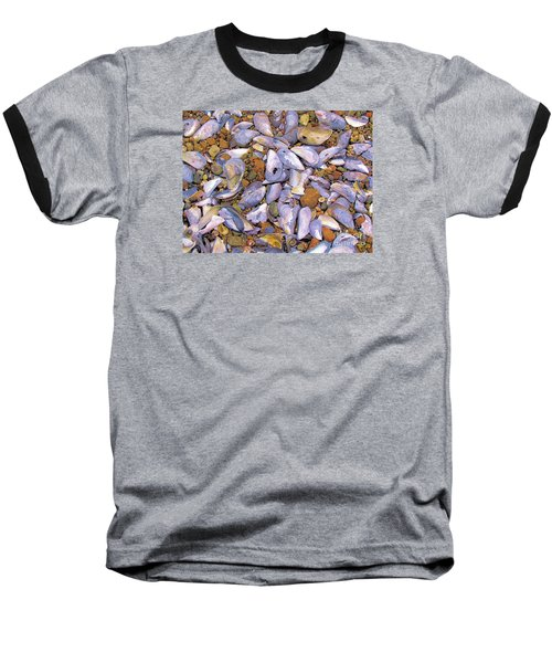 Periwinkles Muscles And Clams Baseball T-Shirt by Elizabeth Dow