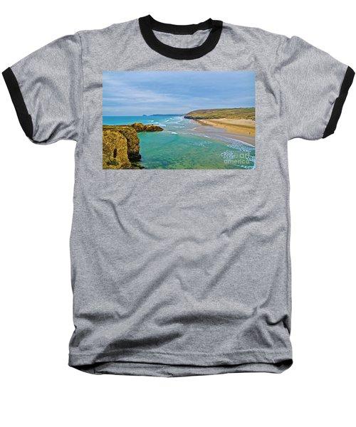 Perranporth Beach Baseball T-Shirt