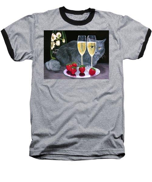 Perrier Jouet Et Le Chat Baseball T-Shirt