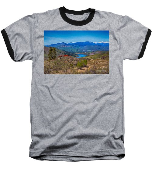 Perrygin Lake In The Methow Valley Landscape Art Baseball T-Shirt