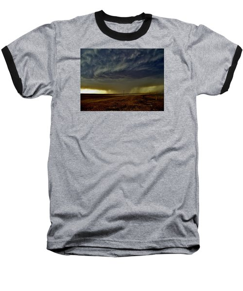 Perryton Supercell Baseball T-Shirt by Ed Sweeney