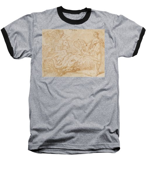 Perseus Rescuing Andromeda Red Chalk On Paper Baseball T-Shirt by or Zuccaro, Federico Zuccari