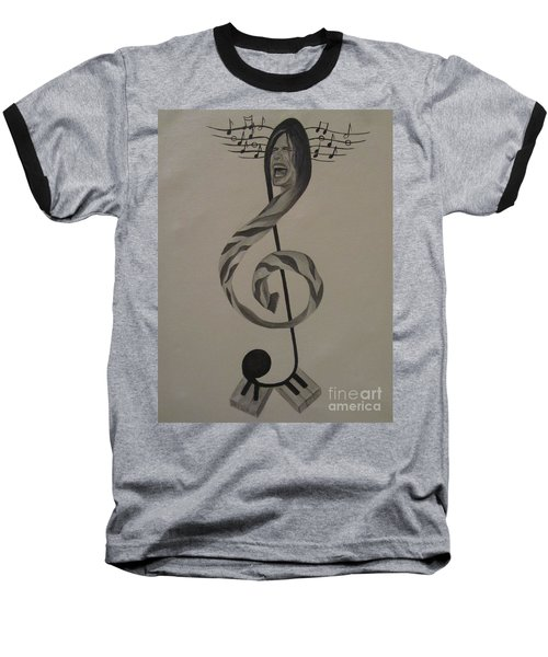 Baseball T-Shirt featuring the painting Personification Of Music by Jeepee Aero