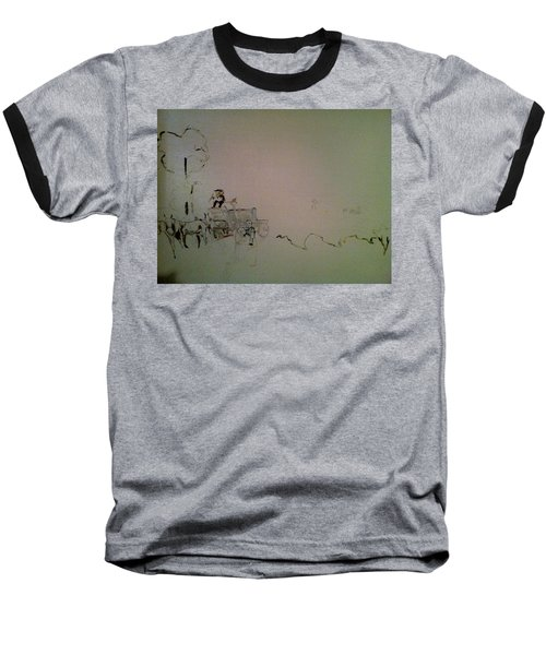 Perspective Baseball T-Shirt by Mary Ellen Anderson