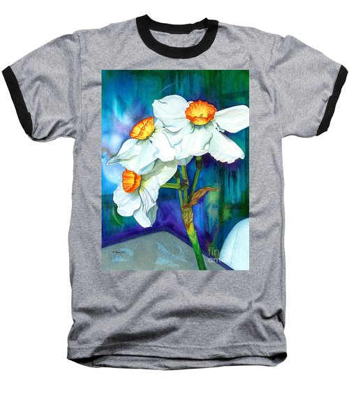 Petal Portrait Baseball T-Shirt by Barbara Jewell