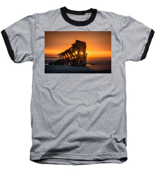 Peter Iredale Ship Baseball T-Shirt by James Hammond