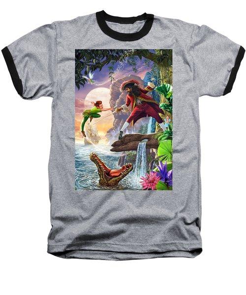 Peter Pan And Captain Hook Baseball T-Shirt