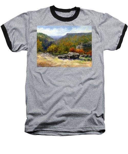 Petit Jean View From Mather Lodge Baseball T-Shirt
