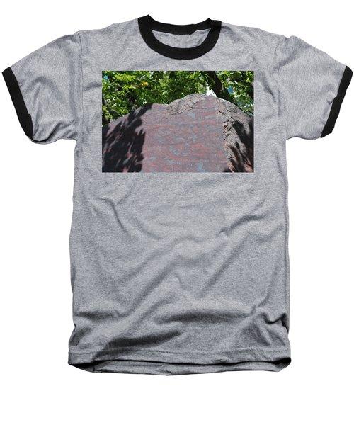 Petrified Wood On Display Baseball T-Shirt