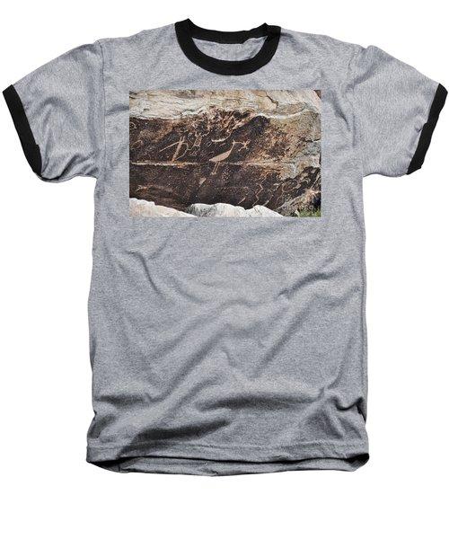 Petroglyph Bird Baseball T-Shirt
