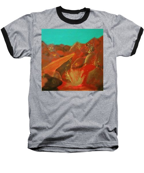 Baseball T-Shirt featuring the painting Petroglyph Park by Keith Thue