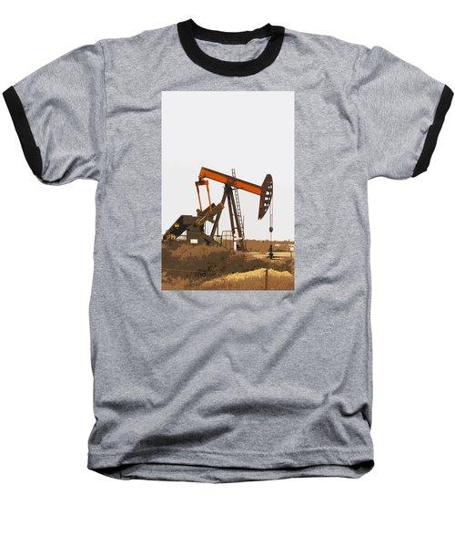 Petroleum Pumping Unit Baseball T-Shirt by Art Block Collections