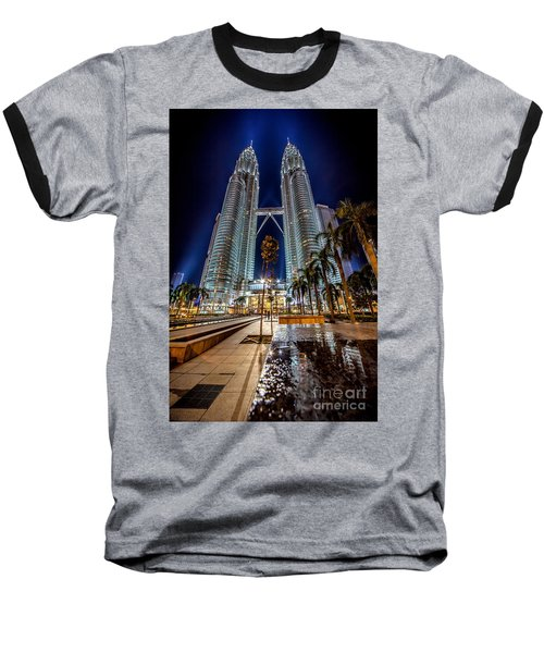 Petronas Twin Towers Baseball T-Shirt