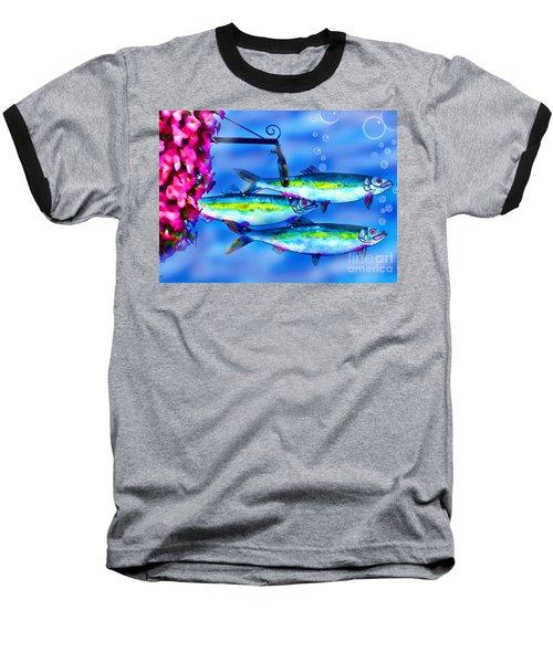 Petunia's And Sky Fish Bubbles Baseball T-Shirt