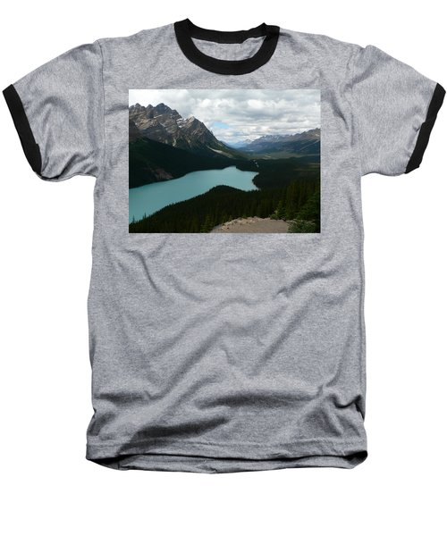 Baseball T-Shirt featuring the photograph Peyote Lake In Banff Alberta by Laurel Best