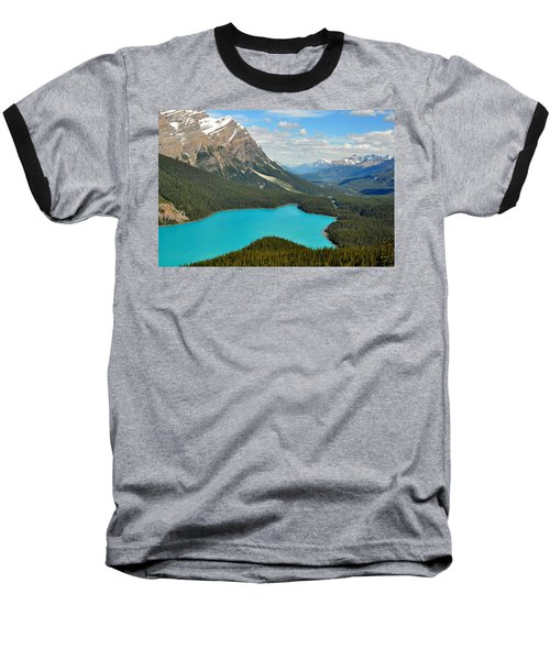 Peyto Lake Baseball T-Shirt by Lisa Phillips