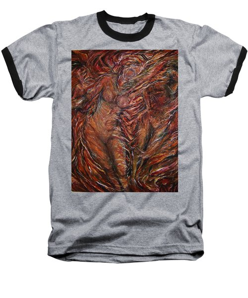 Trumpets Aired Baseball T-Shirt by Dawn Fisher