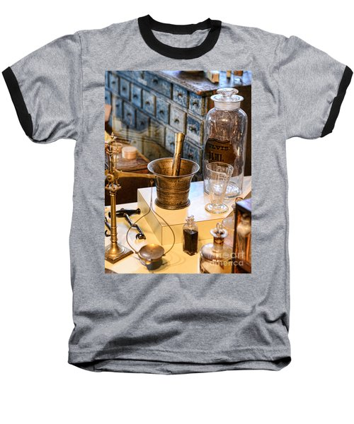Pharmacist - Brass Mortar And Pestle Baseball T-Shirt