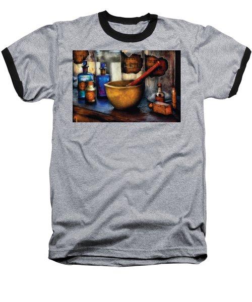 Pharmacist - Mortar And Pestle Baseball T-Shirt by Mike Savad