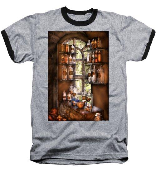 Pharmacist - Various Potions Baseball T-Shirt by Mike Savad