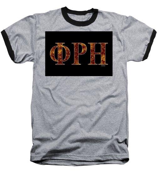 Baseball T-Shirt featuring the digital art Phi Rho Eta - Black by Stephen Younts