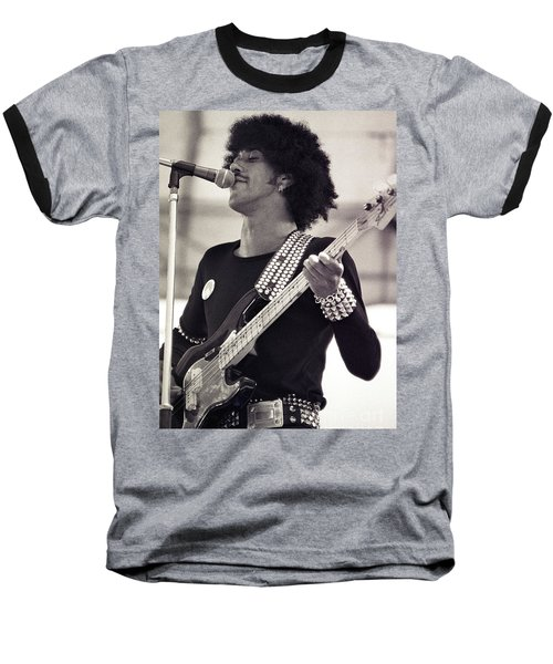 Phil Lynott Of Thin Lizzy Black Rose Tour At Day On The Green 4th Of July 1979 - Unreleased  Baseball T-Shirt