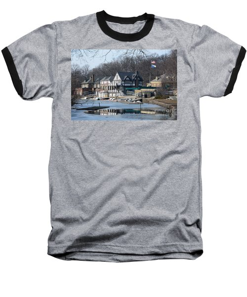 Philadelphia - Boat House Row Baseball T-Shirt