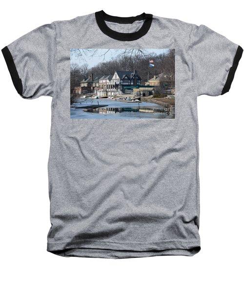 Philadelphia - Boat House Row Baseball T-Shirt by Cindy Manero
