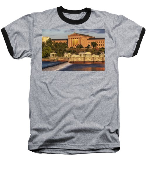 Philadelphia Museum Of Art Baseball T-Shirt by Susan Candelario