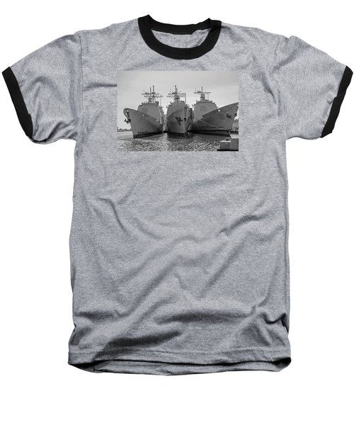 Philadelphia Navy Yard B - W  Baseball T-Shirt