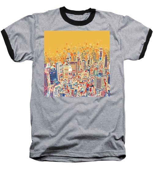 Philadelphia Panorama Pop Art Baseball T-Shirt