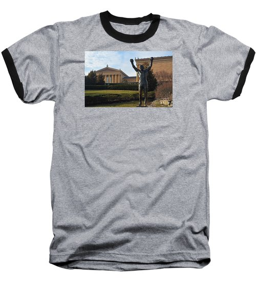 Philadelphia - Rocky  Baseball T-Shirt by Cindy Manero