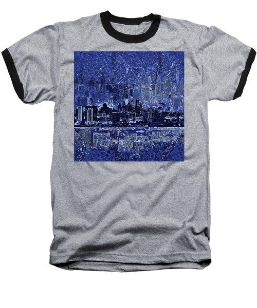 Philadelphia Skyline Abstract 2 Baseball T-Shirt