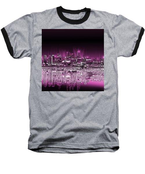 Philadelphia Skyline  Gradient 2 Baseball T-Shirt