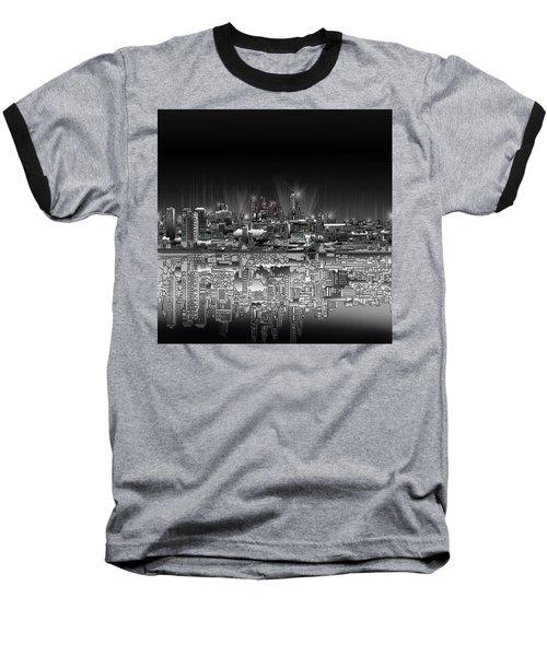 Philadelphia Skyline  Gradient Baseball T-Shirt