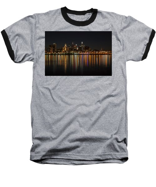 Philly Night Baseball T-Shirt by Jennifer Ancker