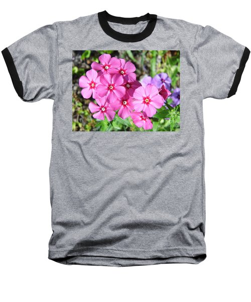 Baseball T-Shirt featuring the photograph Phlox Beside The Road by D Hackett