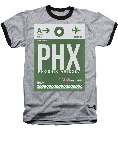 Phoenix Airport Poster 2 Baseball T-Shirt
