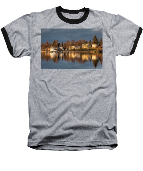 Reflection Of A Village - Phoenix Ny Baseball T-Shirt by Everet Regal