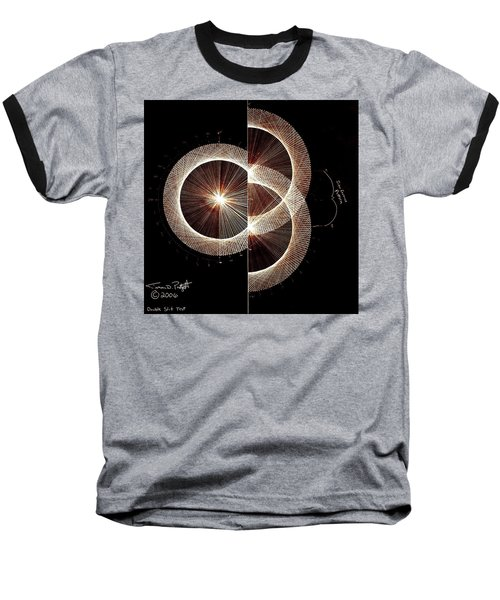 Photon Double Slit Test Hand Drawn Baseball T-Shirt