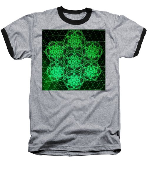 Baseball T-Shirt featuring the drawing Photon Interference Fractal by Jason Padgett