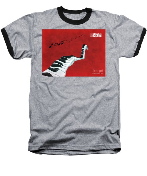 Piano Fun - S01at01 Baseball T-Shirt by Variance Collections