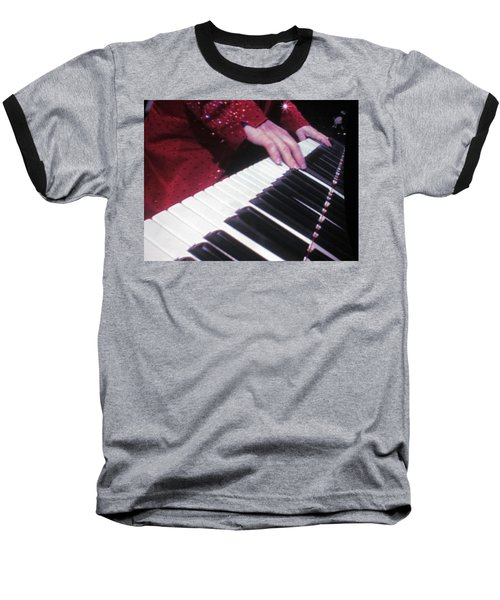 Piano Man At Work Baseball T-Shirt